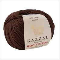 Пряжа Baby Cotton, цвет коричневый