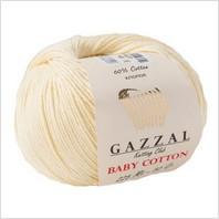 Пряжа Baby Cotton, цвет экрю
