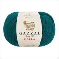 Пряжа Galla, цвет темно-зеленый