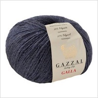 Пряжа Galla, цвет темно-синий