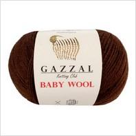Пряжа Baby Wool, цвет коричневый