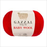 Пряжа Baby Wool, цвет красный