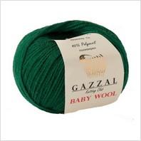 Пряжа Baby Wool, цвет темно-зеленый