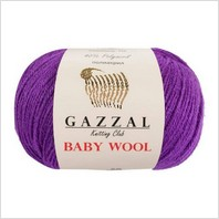 Пряжа Baby Wool, цвет фиолетовый
