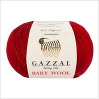 Пряжа Baby Wool, цвет темно-коричневый