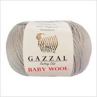 Пряжа Baby Wool, цвет серый