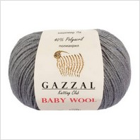 Пряжа Baby Wool, цвет темно-серый
