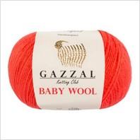 Пряжа Baby Wool, цвет коралловый
