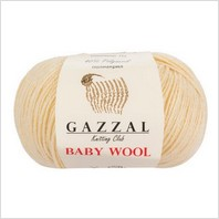 Пряжа Baby Wool, цвет молочный