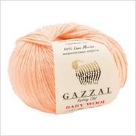 Пряжа Baby Wool, цвет персиковый