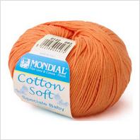 Пряжа Cotton Soft, цвет оранжевый