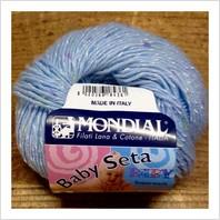 Пряжа Baby Seta (голубая)