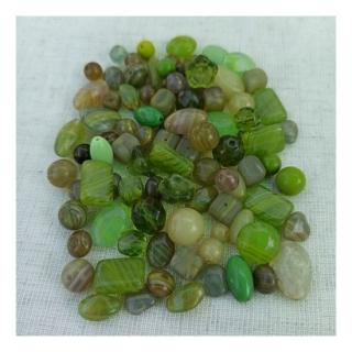 Мікс намистин Olive & Green 0040