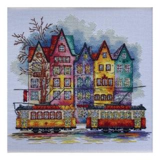 Фарби старого міста - М-0250 - ВДВ - Набір для вишивки муліне - Пейзажі