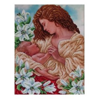 Мадонна з немовлям - Т-1355 - ВДВ - Схема для вишивки бісером - Люди