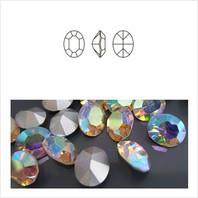 Ювелирные кристаллы Oval 12x10 мм AB