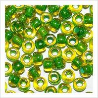 Бісер 10/0 889/81012 (профарбований (з зеленою серединкою))