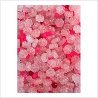 Мікс пресованих намистин (рожевий, червоний)