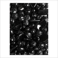 Мікс пресованих намистин (чорний)