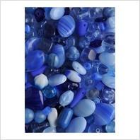 Мікс пресованих намистин (синій)