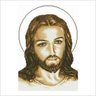 """Ткань со схемой для вышивания бисером """"Иисус"""""""