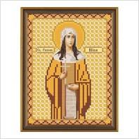 """Ткань со схемой для вышивания бисером """"Св. Равноап. Нина Просвет. Грузии"""""""
