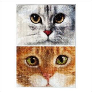 """Набір для вишивання ''Коти Тигр + Кітті"""""""