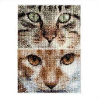 """Набір для вишивання ''Кішки Тесс + Сімба"""""""