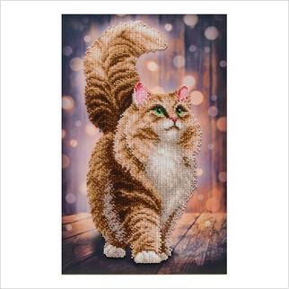 Мрійливий кіт - Т-1342 - ВДВ - Схема для вишивки бісером - Тварини
