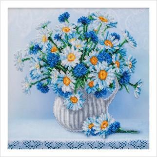 Ромашки з волошками - Т-1344 - ВДВ - Схема для вишивки бісером - Квіти