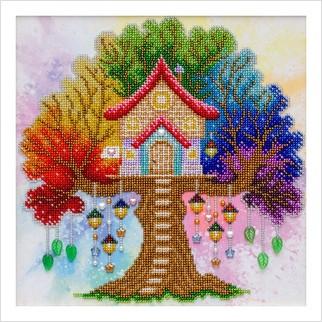 Будиночок для мрійників (намистини у комплекті) - Т-1351 - ВДВ - Схема для вишивки бісером - Пейзажі