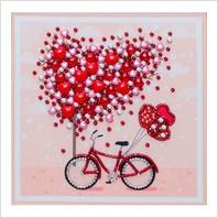"""Схема для вишивки бісером """"Дерево закоханих сердець"""""""