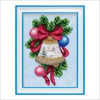"""Вышитая бисером картина """"Рождественский колокольчик"""""""