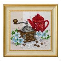 """Вышитая бисером картина """"Кофейное настроение"""""""