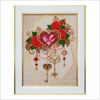 """Вышитая бисером картина """"Ключи от сердца"""""""