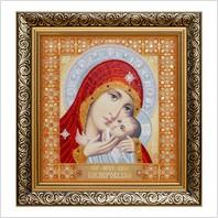 """Вышитая бисером икона """"Богородица Касперовская"""""""