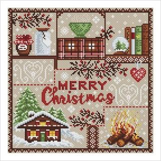 З Різдвом! - М-0257 - ВДВ - Набір для вишивки муліне - Новий Рік