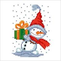 """Набор для вышивания ''Снеговик"""""""