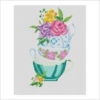 """Набор для вышивания ''Цветочное чаепитие"""""""