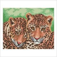 """Набор для вышивания ''Леопарды"""""""