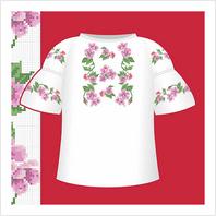 """Цветная схема """"Сорочка-вышиванка для девочки"""""""