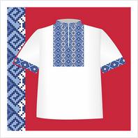 """Цветная схема """"Сорочка-вышиванка для мальчика"""""""