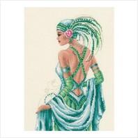 """Набор для вышивания ''Леди в зеленом"""""""