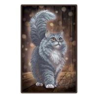 """Схема для вишивки бісером """"Сірий кіт"""""""