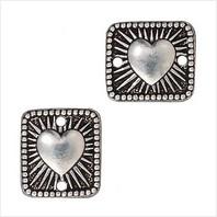 Коннектор сияющее сердце (античное серебро)