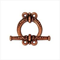 Тоггл символ петля (античная медь)