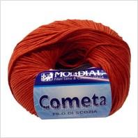 Пряжа Cometa (красно-оранжевая)