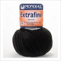 Пряжа Extrafine (черная)