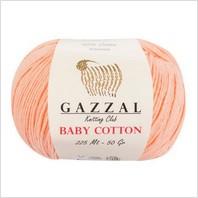 Пряжа Baby Cotton, цвет персиковый
