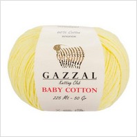 Пряжа Baby Cotton, цвет лимонный